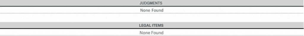 Judgements and legal items